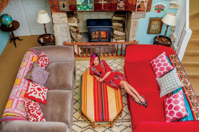 From Edenic gardens to electric guitars, Lily Allen's Cotswolds home is as bold—and balanced—as the singer.
