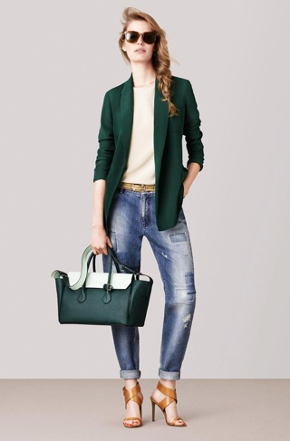 0     0     0     0     email 1.) Bally's new bags are all clean lines and ladylike straps, but the standouts from its spring 2015 collection were an elegant, deep emerald hue inspired by the tone of vintage Jaguar automobiles. And after all, green means go.