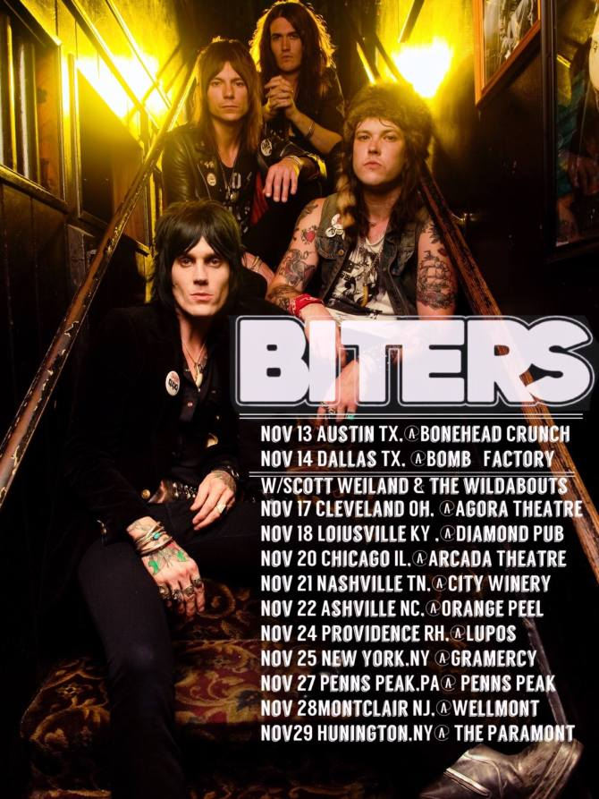 BITERS November Tour Dates