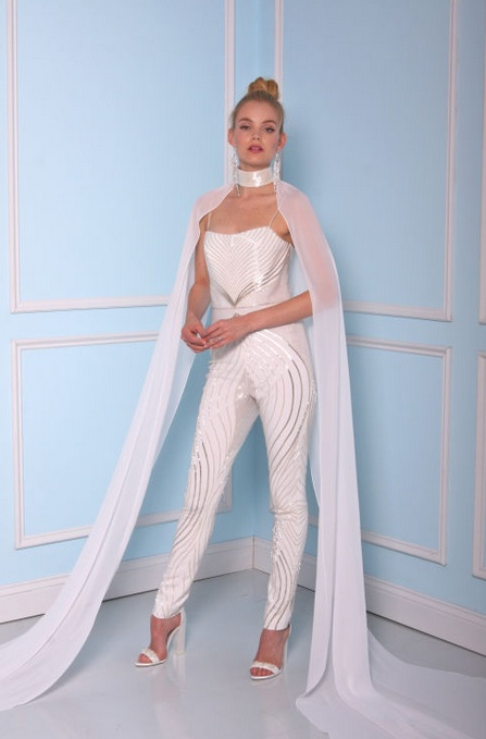 Christian Siriano Bridal Spring 2017 Jumpsuit