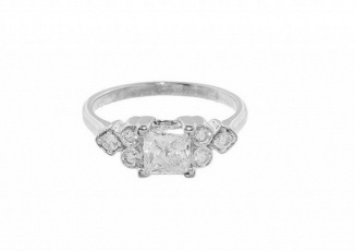 Sethi Couture Princess Cut Solitaire Ring ($6490)