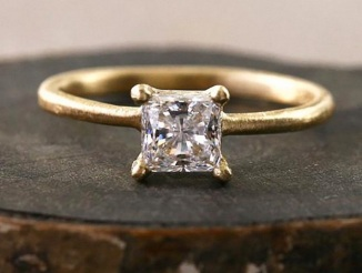 Yasuko Azuma Princess Cut Diamond Ring ($2800)