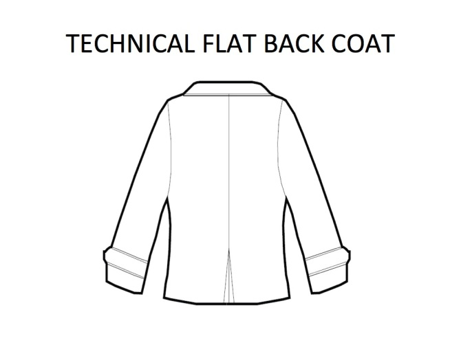 Tech flat coat back