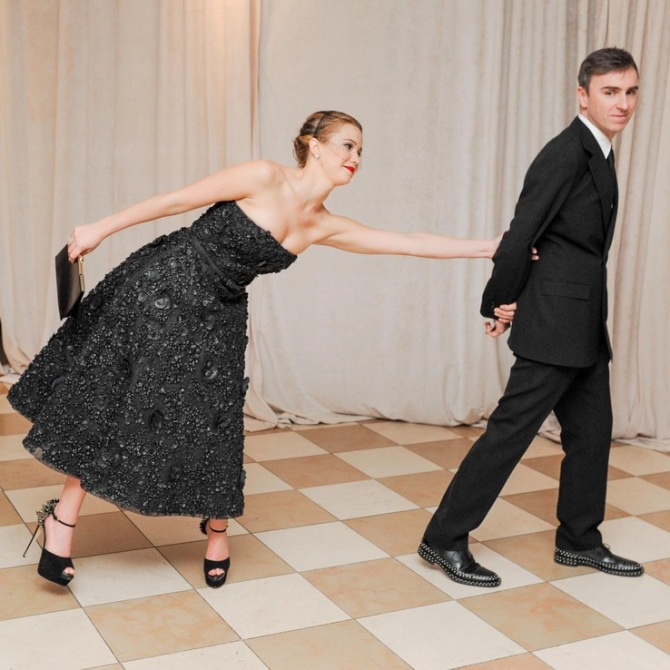 Raf Simons and Jennifer Lawrence at the Metropolitan Museum of Art's Costume Institute Benefit, 2013 Photo: BFA