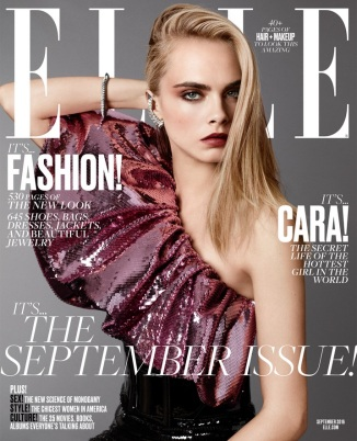 Dress, earring, and belt by Saint Laurent. Bracelet by Cartier. Terry Tsiolis for ELLE