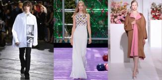 From left: Raf Simons Spring 2017; Dior Couture Fall 2015; Jil Sander Fall 2012 Photo: (from left) Umberto Fratini / Indigital.tv; Yannis Vlamos / Indigital.tv; Marcus Tondo / GoRunway.com